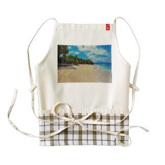 Abandoned beach zazzle HEART apron
