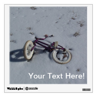 Abandoned Bicycle Wall Decal