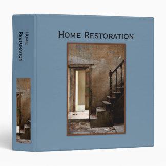 Abandoned blue Home Restoration 3 Ring Binder
