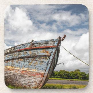 Abandoned Boat at Kirkcudbright Beverage Coaster