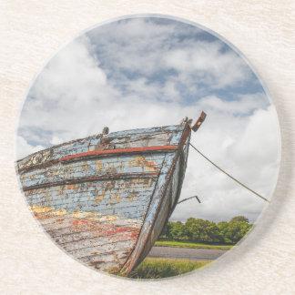 Abandoned Boat at Kirkcudbright Drink Coaster