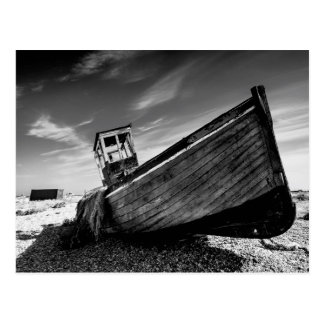 Abandoned Boat On Dungeness Beach Postcard