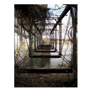Abandoned bridge on Belle Isle Postcard