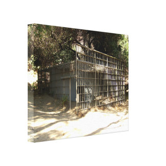 Abandoned Cage At The Old LA Zoo Canvas Print