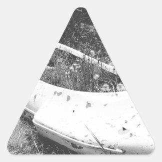 Abandoned Canoe Triangle Sticker