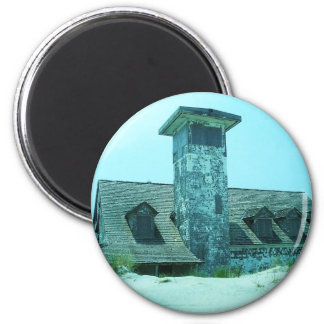 Abandoned Coast Guard Station 2 Inch Round Magnet