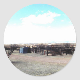 Abandoned Corral Round Sticker