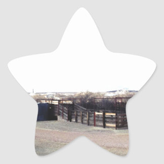 Abandoned Corral Star Sticker