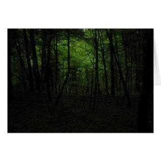 Abandoned dark forest card