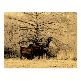 Abandoned Dump Truck Postcard