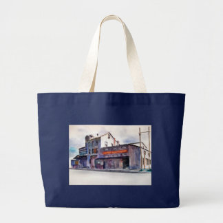 Abandoned factory building large tote bag
