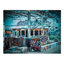 Abandoned Factory Photography Postcard