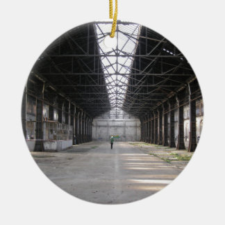 Abandoned factory ruins industrial archeology ceramic ornament