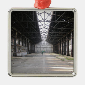 Abandoned factory ruins industrial archeology metal ornament