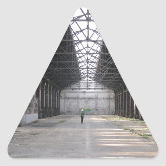 Abandoned factory ruins industrial archeology triangle stickers