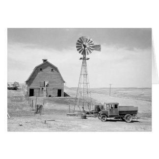 Abandoned Farm, 1936 Card