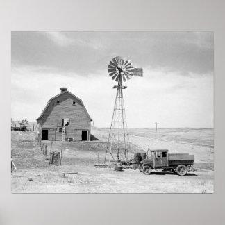 Abandoned Farm, 1936. Vintage Photo Poster