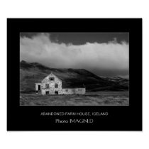 Abandoned Farm House, Iceland Poster