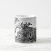 Abandoned farm on coffee mug