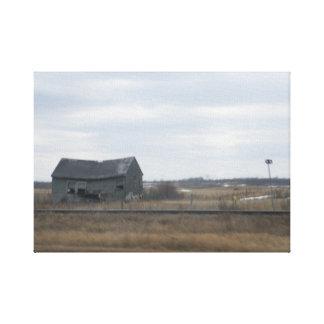 Abandoned Farmhouse on the Prairies Canvas Print