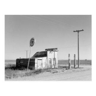 Abandoned Gas Station, 1937 Postcard