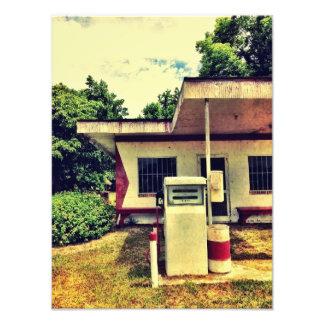 Abandoned Gas Station Photo Art