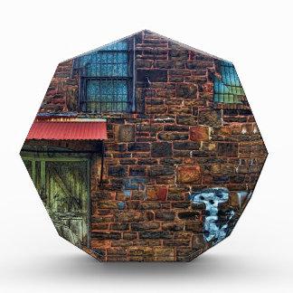 Abandoned Graffiti Brick Building Barred Windows Awards