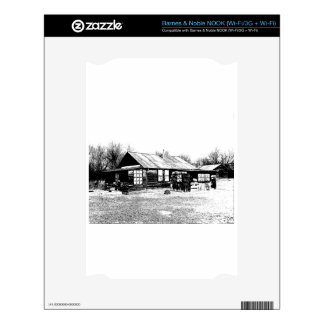 Abandoned Homestead in Black and White Decals For The NOOK