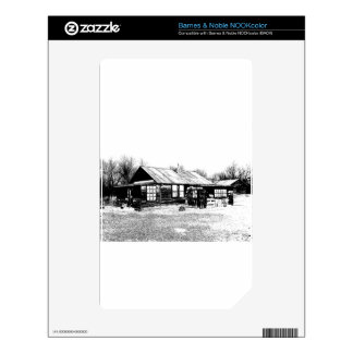 Abandoned Homestead in Black and White Decals For NOOK Color