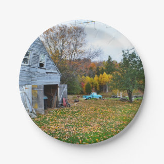 Abandoned Homestead Paper Plate