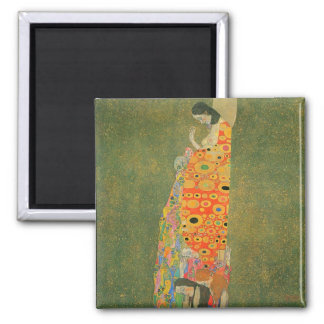 Abandoned Hope by Gustav Klimt 2 Inch Square Magnet