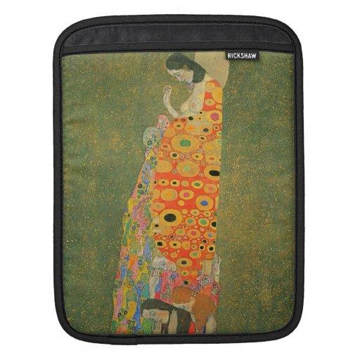Abandoned Hope by Gustav Klimt iPad Sleeve