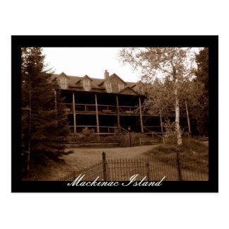 Abandoned Hotel Mackinac Island Postcard