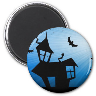 Abandoned house 2 inch round magnet