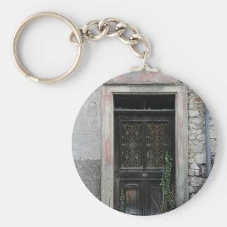 Abandoned house, Basel, Switzerland Basic Round Button Keychain