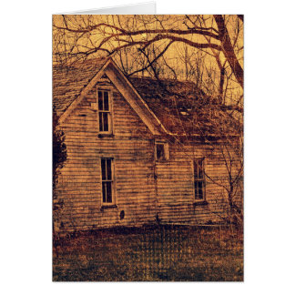 Abandoned House Card