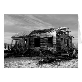 Abandoned House In Kelso California Card