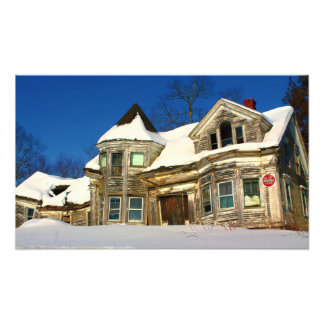 Abandoned House in Searsport, Maine Photo Print