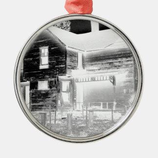 Abandoned House - negative Metal Ornament