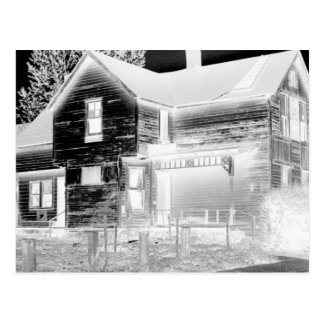 Abandoned House - negative Postcard