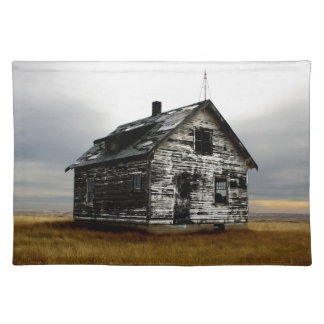 Abandoned house on the praires placemat