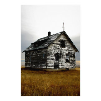 Abandoned house on the praires stationery