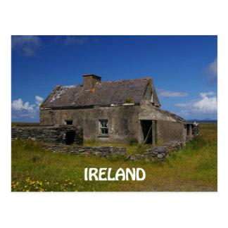 Abandoned Irish Cottage Postcard