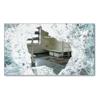 Abandoned Jail Cell Bed Business Card Magnet