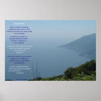 Abandoned Lyrics Poster