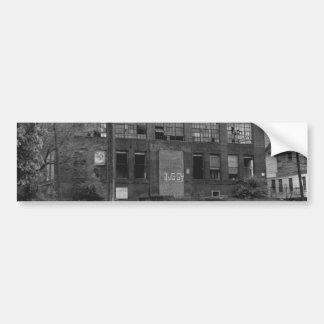 Abandoned Manufacturing Building Car Bumper Sticker