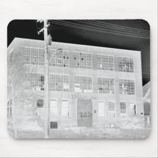 Abandoned Manufacturing Building - negative Mouse Pad