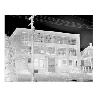 Abandoned Manufacturing Building - negative Postcard