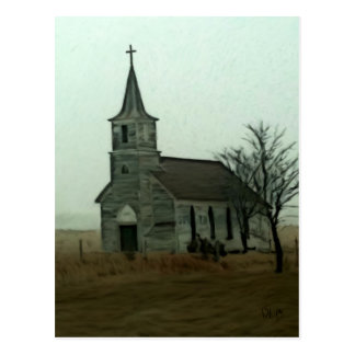 Abandoned Milford Church Postcard