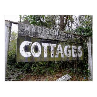 Abandoned Motor Inn Sign Postcard